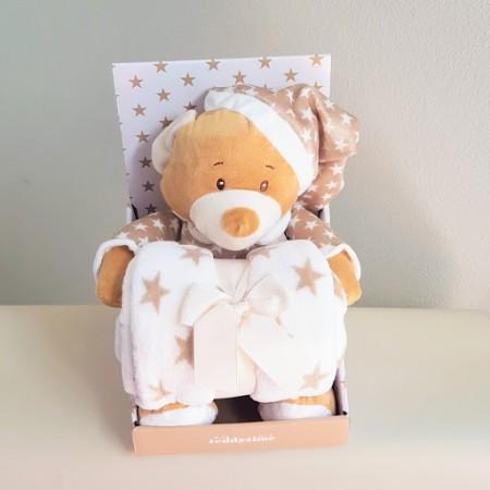 Beige Bear N Blanket