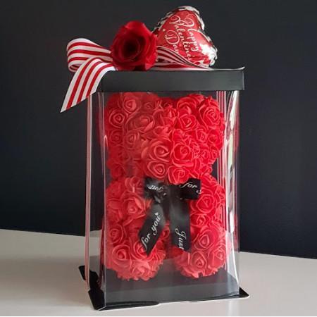 Red Rose Bear 25cm